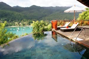 Private pool at one of Ephelia's hillside villas