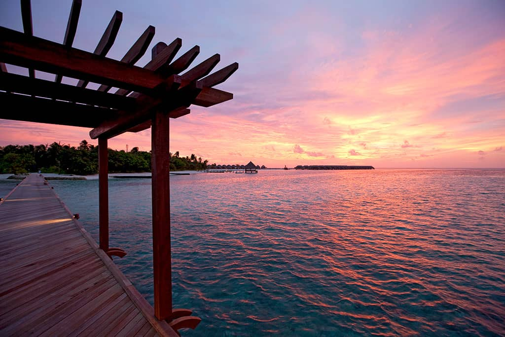 Sunset at Constance Moofushi Resort, Maldives