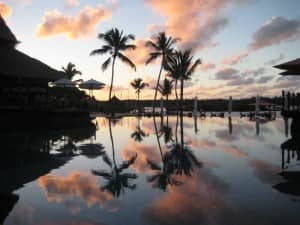 Sunset at Constance Le Prince Maurice, Mauritius