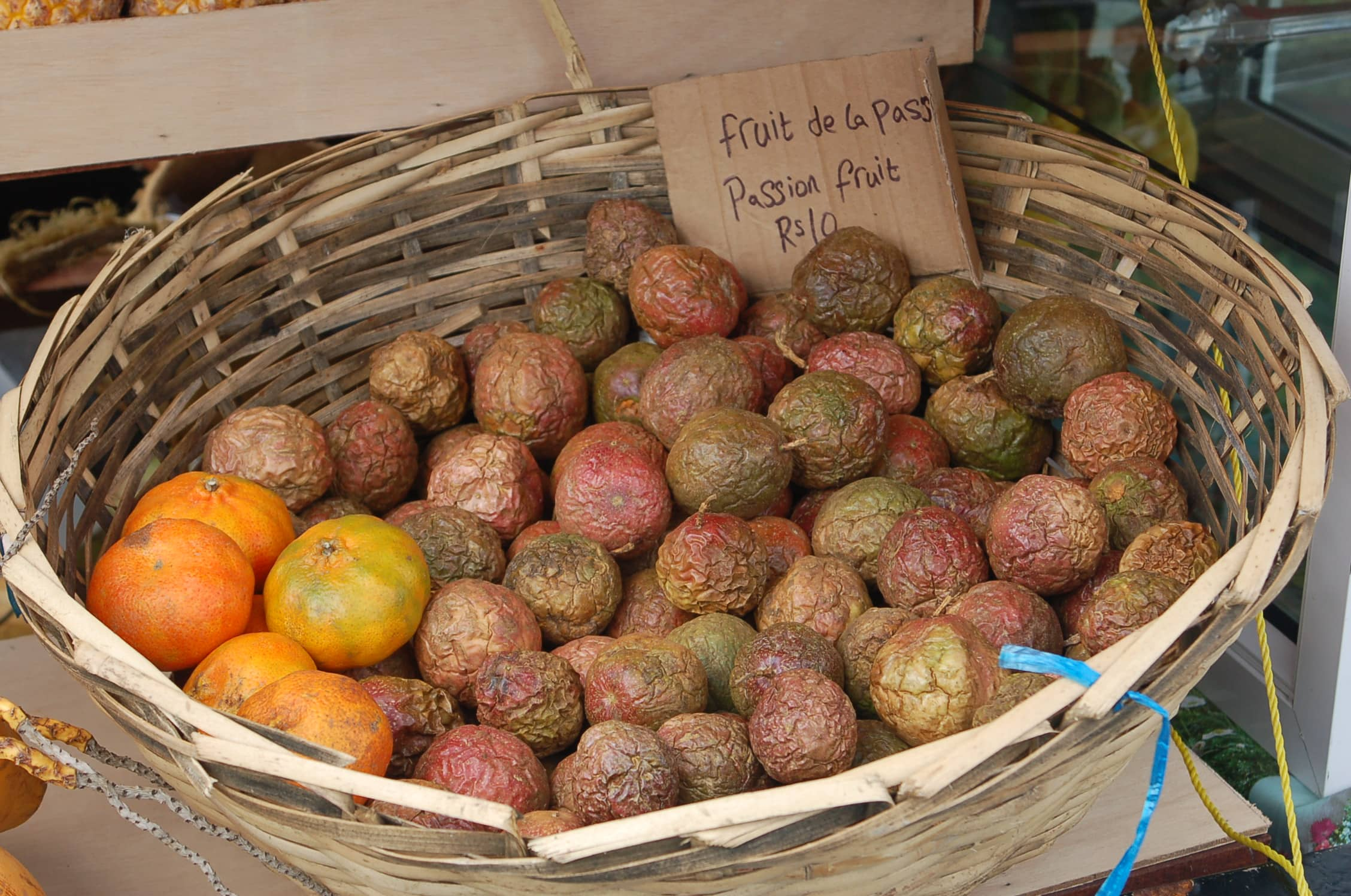 Fresh passionfruit in market