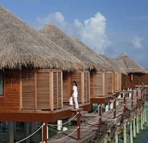 Spa treatment pavilion at Constance Halaveli Resort, Maldives