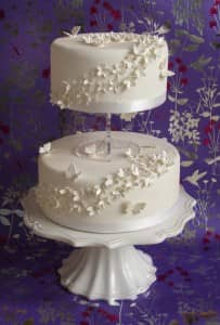 Stunning two tier wedding cake