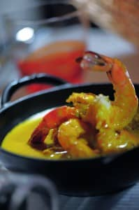 Prawn curry at Constance Hotels Experience
