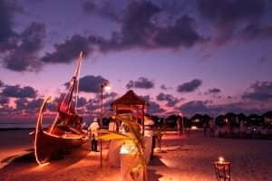 Meeru beach bbq at Constance Halaveli Resort