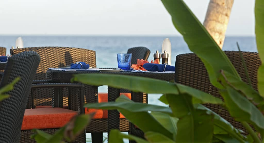 Meeru dining at Constance Halaveli Resort, Maldives