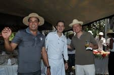 Enrico Barnardo and organisers of Culinary Festival Bernard Loiseau 2012