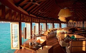 Jing restaurant at Constance Halaveli Resort
