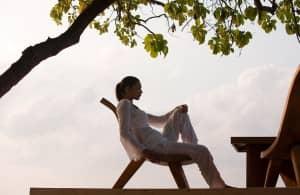 Woman relaxing at Spa de Constance