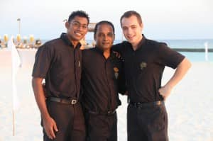 Sommelier team at Constance Halaveli