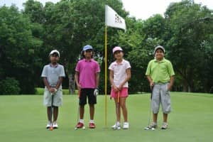 Children's golf competition at Constance Belle Mare Plage