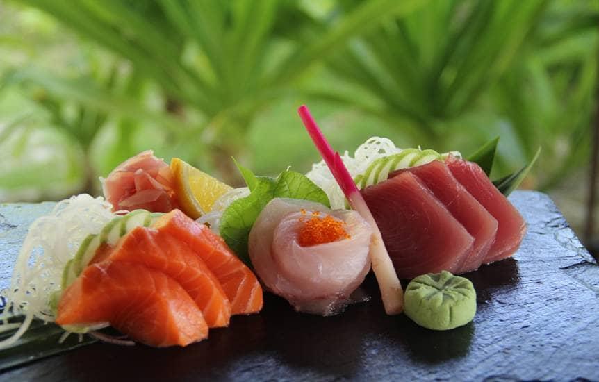 Constance Halaveli sashimi