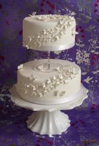Wedding cake by Pink Rose Cakes