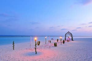 Wedding on the beach at Constance Halaveli
