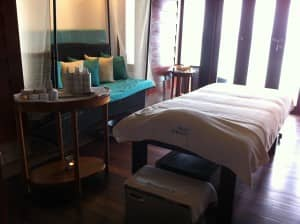 Spa treatment room at Constance Halaveli Resort