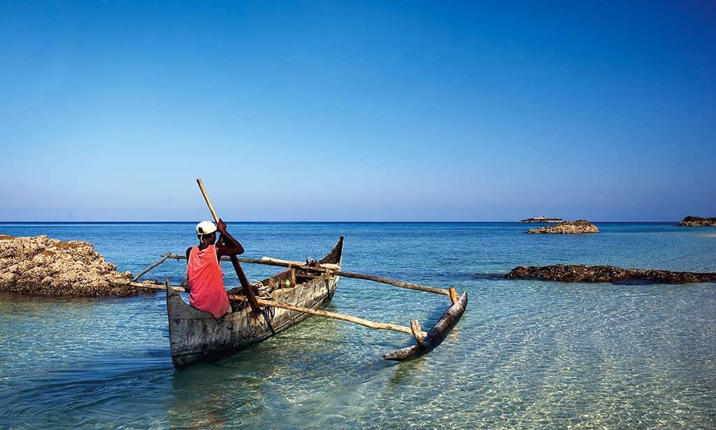 Local Mitsio fishermen in Madagascar