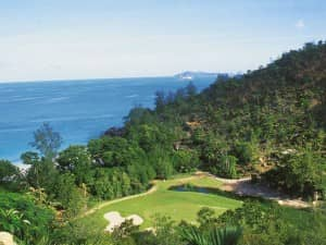 18-hole championship golf course, Constance Lemuria Resort, Seychelles