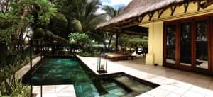 Private pool and deck at Villa 30, Constance Le Prince Maurice