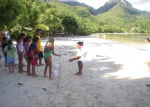 Kids fun on the beach at Constance Ephelia Resort