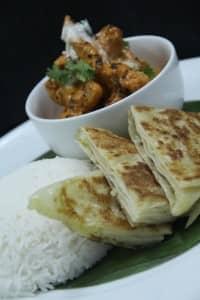 Butter Chicken Garlic Naan and Riata