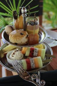 Afternoon tea at Constance Halaveli Resort, Maldives