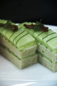 Cucumber sandwiches at Constance Halaveli Resort, Maldives