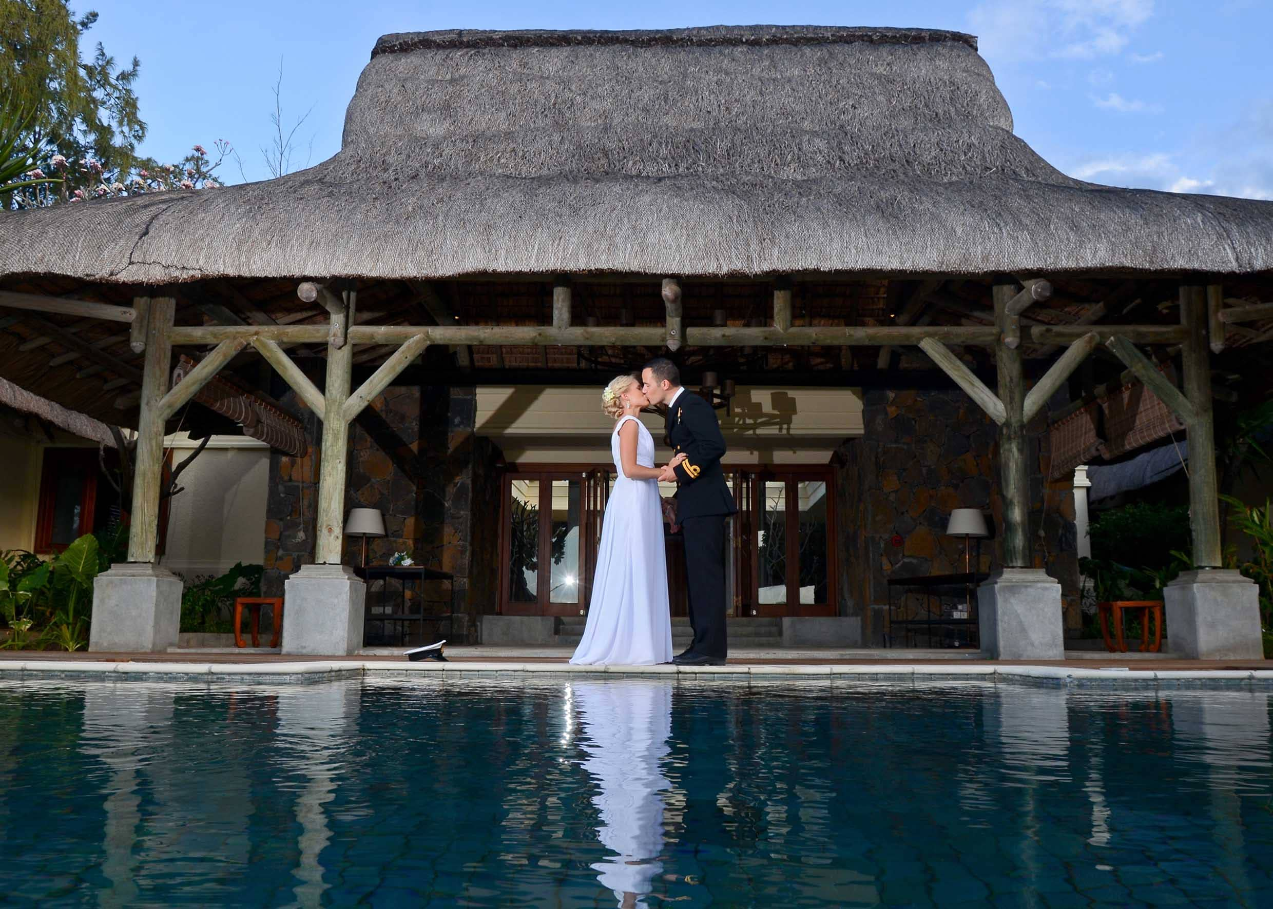David and Carina Billam, wedding at Constance Le Prince Maurice, Mauritius