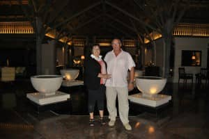 Mr and Mrs Beasse at Constance Le Prince Maurice, Mauritius
