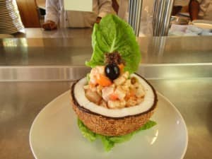 Fish ceviche acapulco style from Constance Moofushi Resort, Maldives