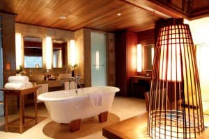 Luxurious bathroom at Constance Ephelia, Seychelles
