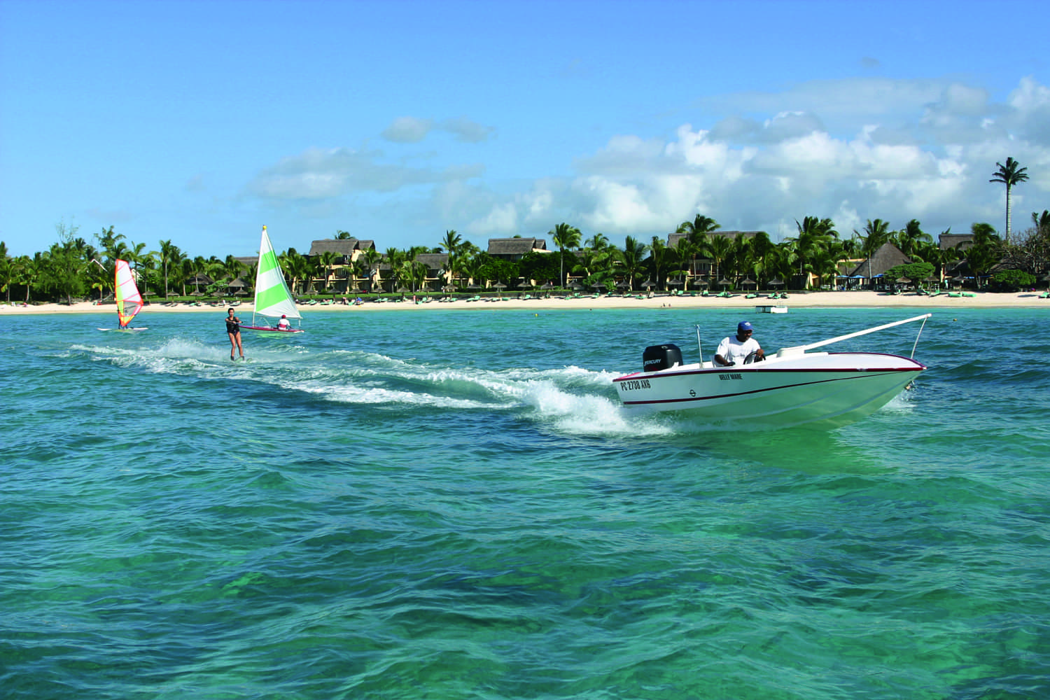 Water sports at Constance Belle Mare Plage, Mauritius