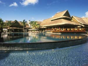Infinity pool at Constance Le Prince Maurice, Mauritius