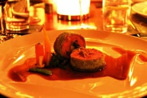 Roulade of grass-fed veal by Chef Walter Ferretto