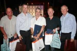 Constance Pro-Am winners (Net) at Constance Belle Mare Plage, Mauritius
