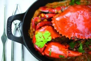 Crab curry, Deer Hunter restaurant, Constance Belle Mare Plage
