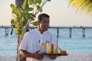 Luxury service from staff at Constance Halaveli, Maldives