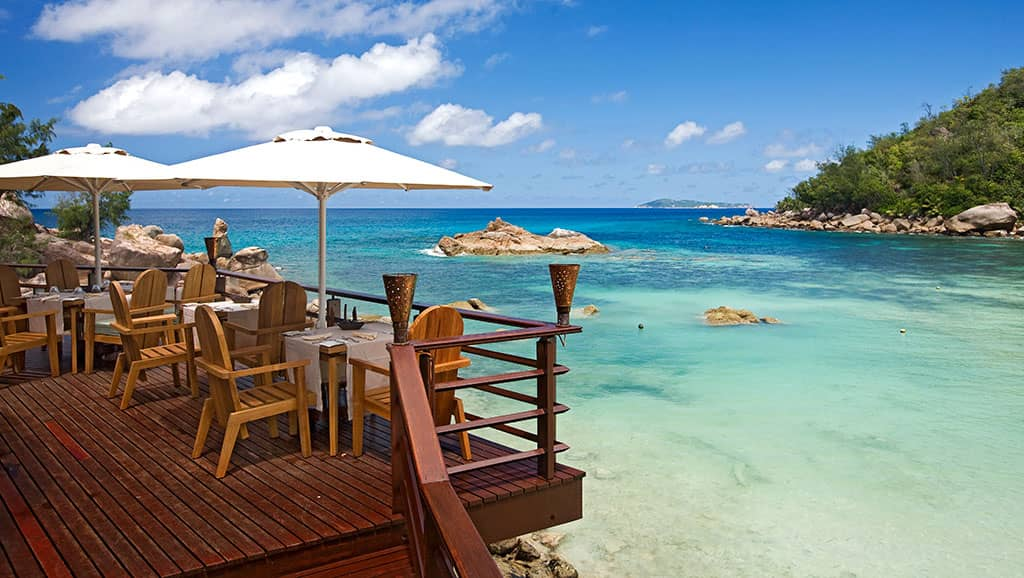Beach bar and grill, Constance Lemuria, Seychelles