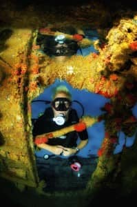 Wreck diving at Constance Halaveli, Maldives