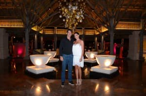 Robert Pires and Jessica Lemaire at Constance Le Prince Maurice