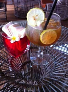 Vanilla iced tea at Constance Hotels & Resorts