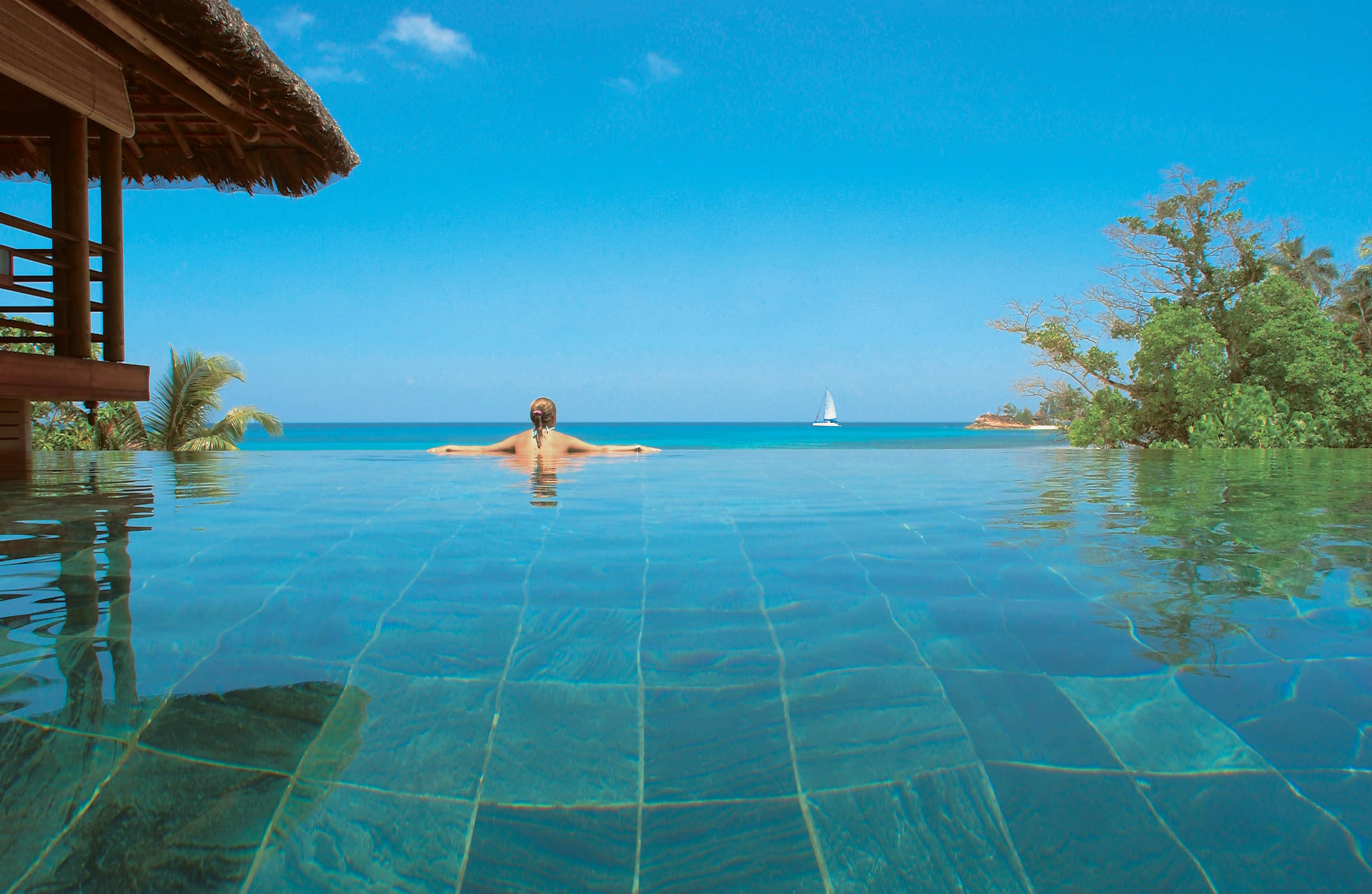 Pool at Presidential Villa, Constance Lemuria, Seychelles