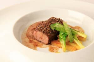 Loin of lamb - winning dish at Culinary Festival Bernard Loiseau 2013