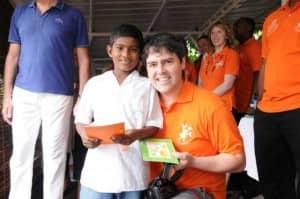 Serge Vieira visits Etoile de Mer in 2012