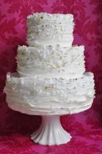 Ruffle wedding cake by Pink Rose Cakes