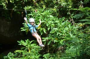 Zip wire at Constance Ephelia, Seychelles