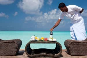 Breakfast at Constance Moofushi, Maldives