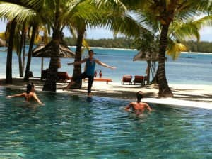 Isabelle Lamant exercise classes at Constance Le Prince Maurice, Mauritius