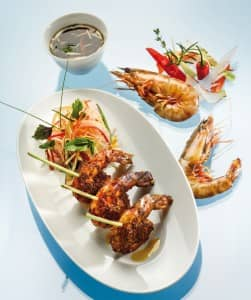 Goan-style shrimp kebabs