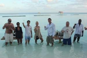 Wine tasting, Constance Moofushi, Maldives