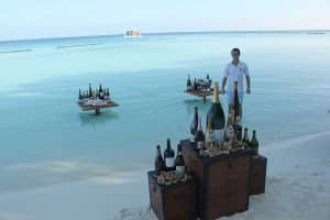 Wine tasting at Constance Moofushi, Maldives