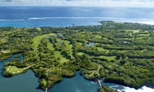 The famous Legend golf course at Belle Mare Plage